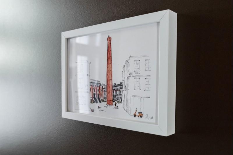 """Ilustrācija rāmī """"Ģipša fabrika"""""""