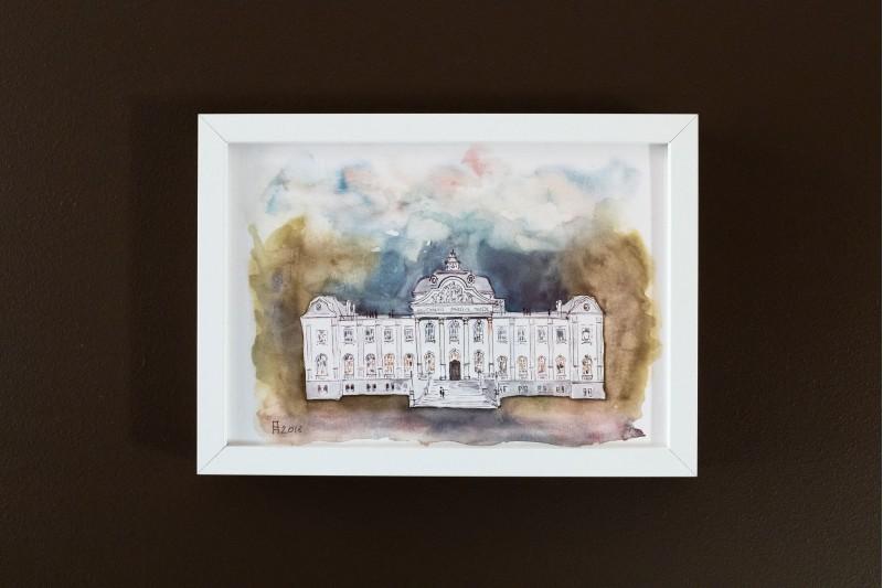 """Ilustrācija rāmī """"Muzejs"""""""